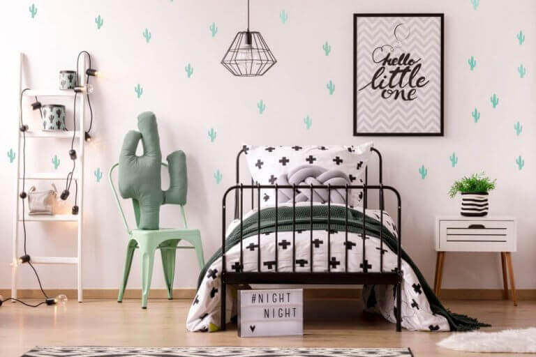 Kinderkamer met cactus thema