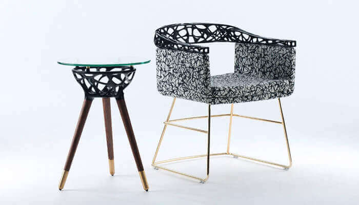 3D-geprinte meubelset Rio