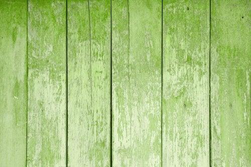Hout met een groene kleur