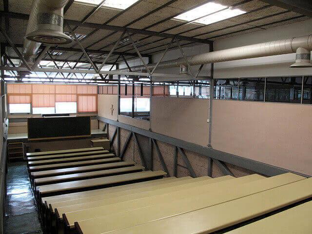 Auditorium boven de sportzaal