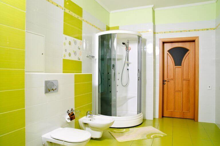 Badkamer in klassiek kleuren