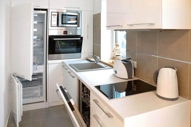 Keuken in een huis voor twee