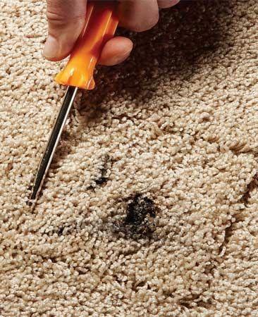 Repareren van tapijt