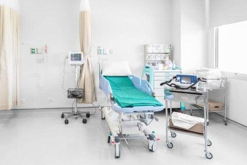 Leeg ziekenhuisbed