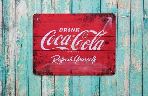 Vintage decoratie van coca cola