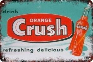 vintage decoratie orange crush