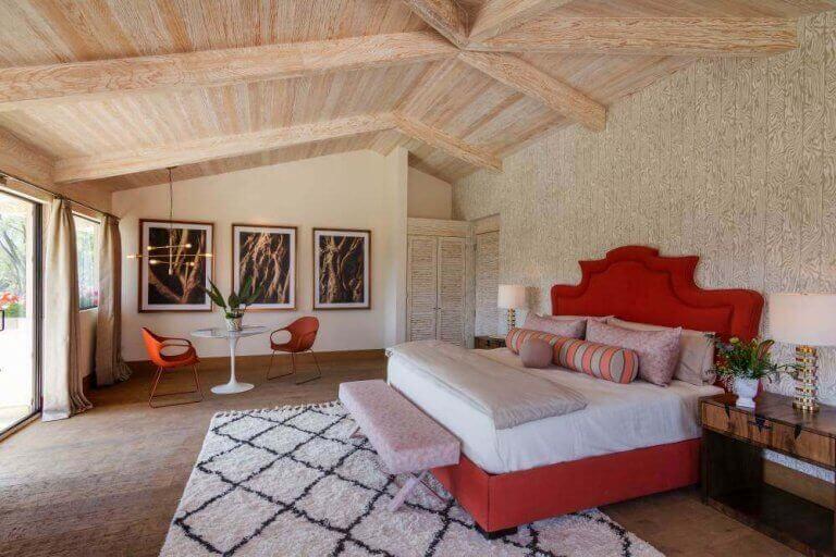 Een slaapkamer ontworpen door Sofia Aspe