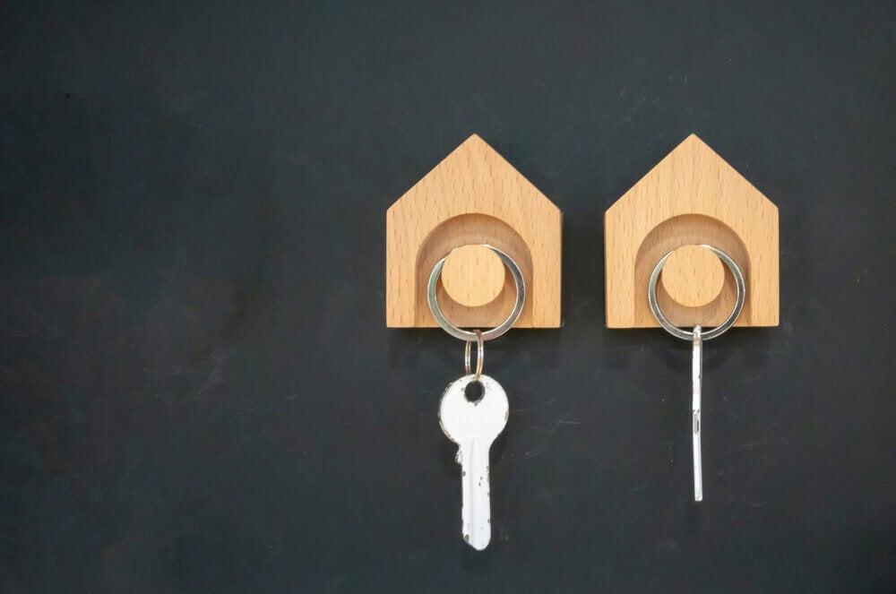 Haakjes voor sleutels