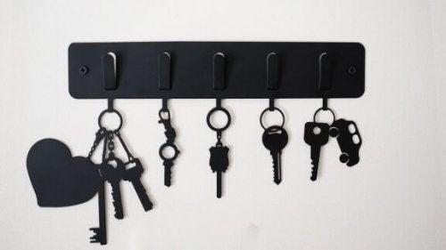 Manieren om je sleutels te ordenen en op te ruimen