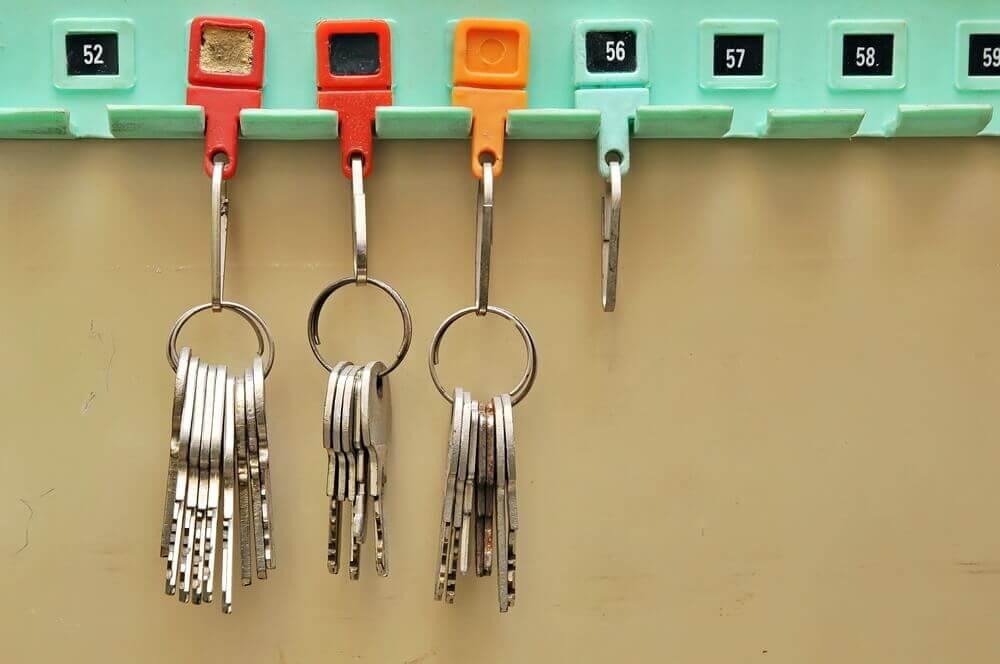 Je sleutels op nummer ordenen