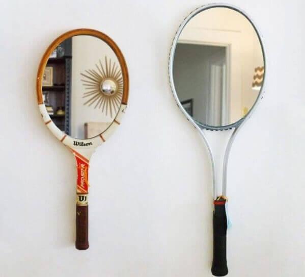 Spiegels van tennisrackets