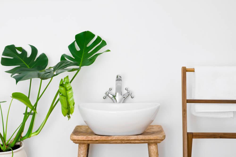 Natuurlijke details voor badkamers