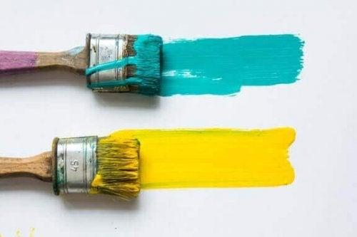 Geel en turkoois samen gebruiken in je huis