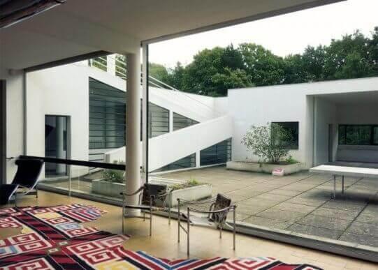 Het interieur van villa savoye