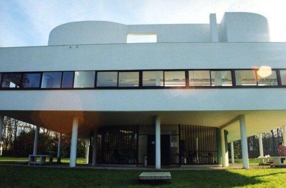 De eerste verdieping van Villa Savoye