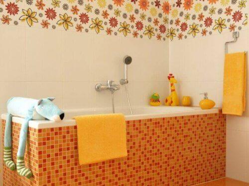 Decoratieve elementen voor kinderbadkamers