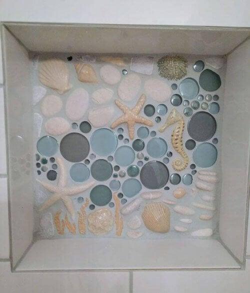 Tegels met een strand thema