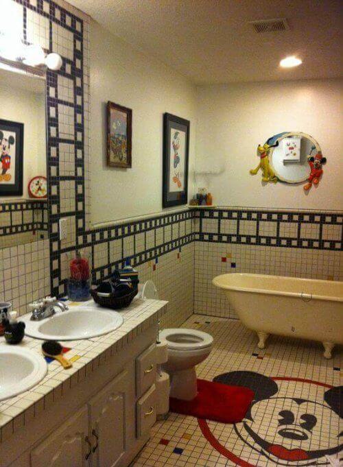Decoratieve elementen voor kinderbadkamers met disney
