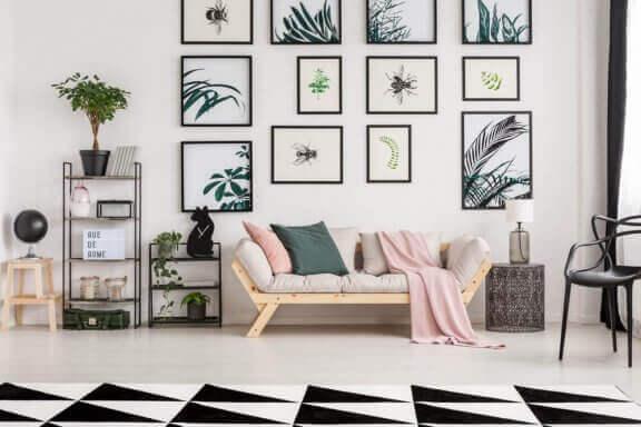 Zwart met witte woonkamer