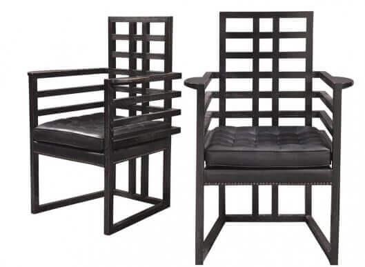Donkere raster stoelen