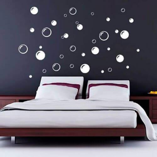 Slaapkamer met bubbels muurstickers