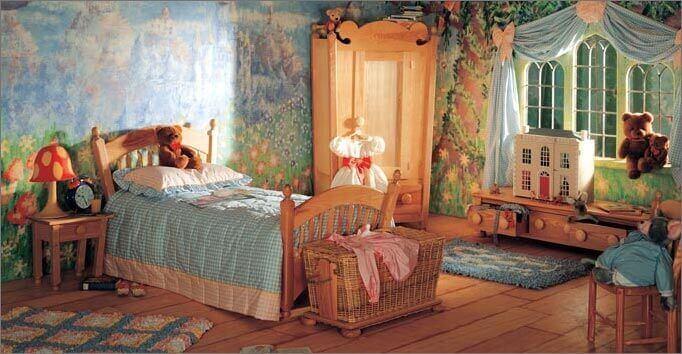Kamer in een prinsessen stijl