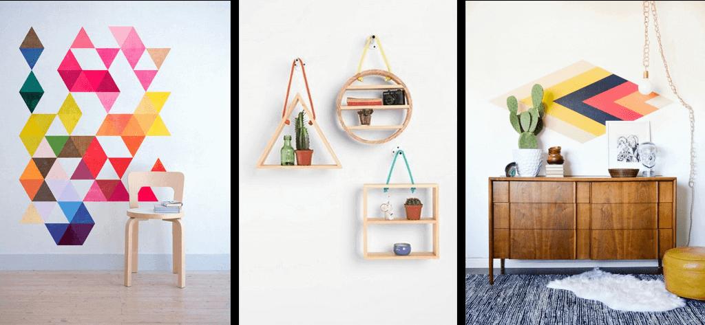Decoraties met geometrische patronen