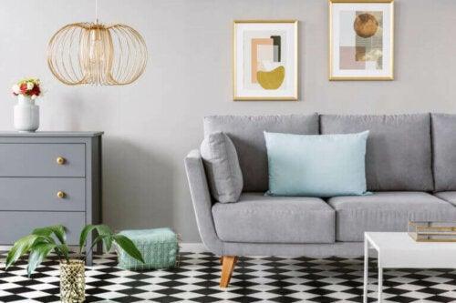 Geometrische patronen in je huis gebruiken