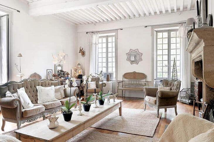 Woonkamer in Franse decoratiestijl