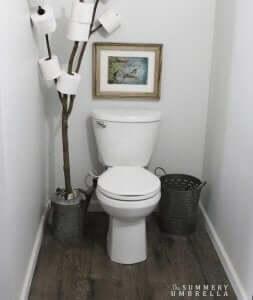 Verschillende soorten toiletrolhouders