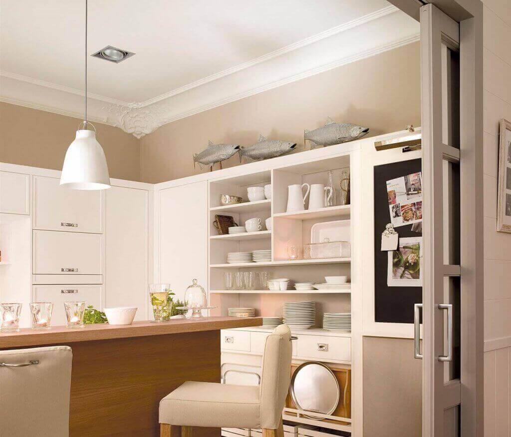 Laat je keuken zonder deur groter lijken