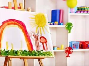 Schilderij van een kind