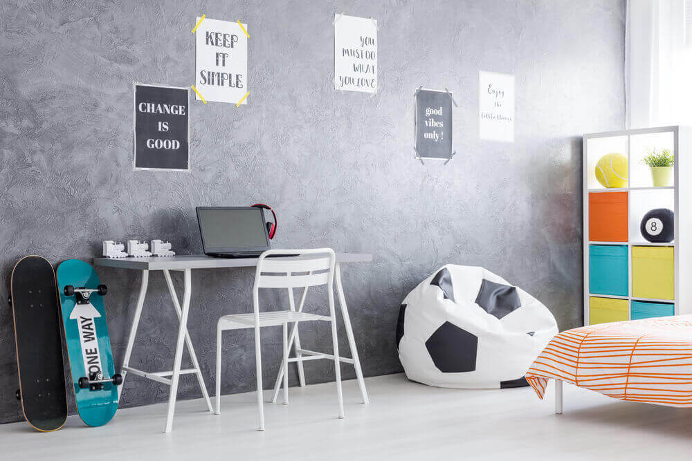 Kamer mer kleurrijke meubels
