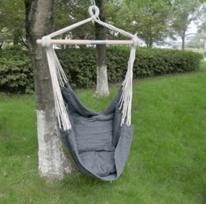 Hangmat met grijze stof
