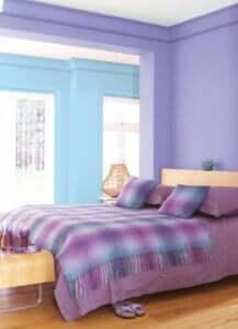 Kleurenschema's voor je slaapkamer roze, blauw en lila