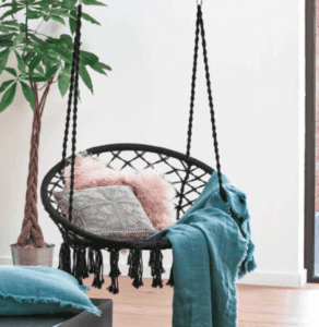 Hangstoel in boho stijl