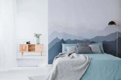 Blauw en grijs interieur: een ideale combinatie