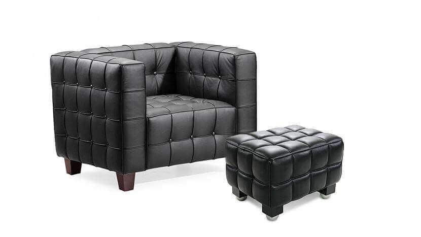 Zwarte kubus stoel van lilly reich