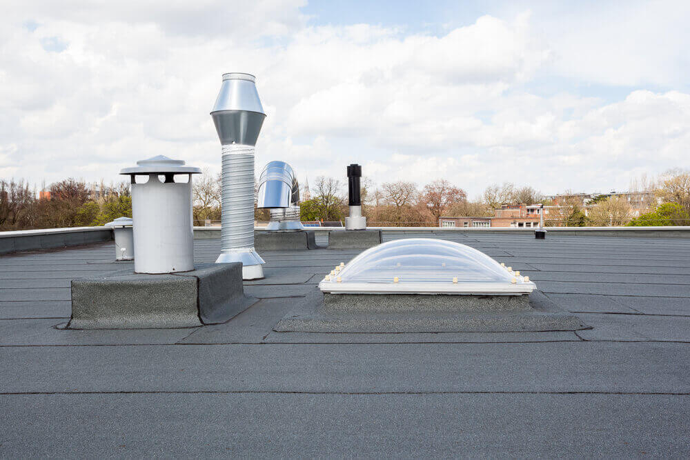 Een waterdicht plat dak