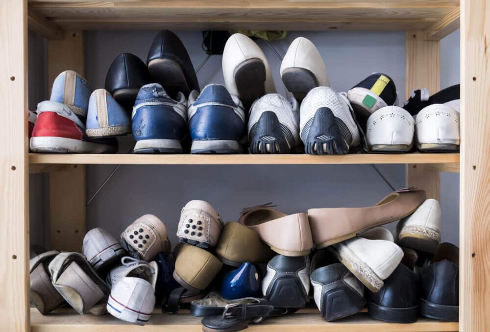 Je schoenen niet netjes opbergen