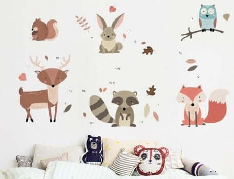 Kinderkamer met dierenthema