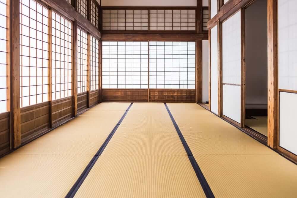 Ruimte met japanse vloer