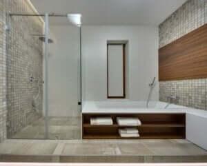 Douchescherm met frame