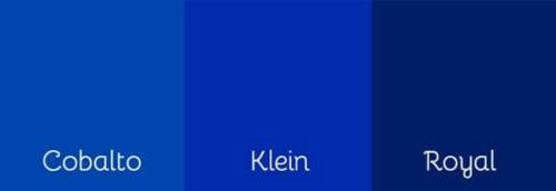 Drie tinten blauw