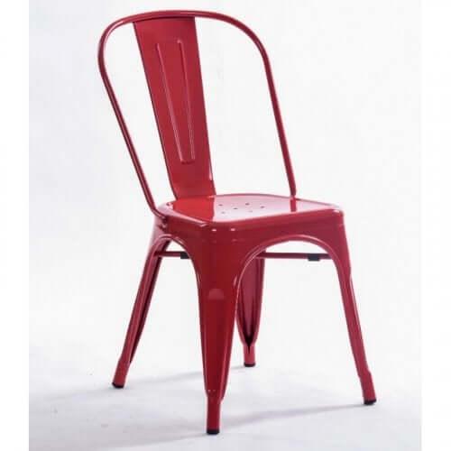Rode tolix stoel