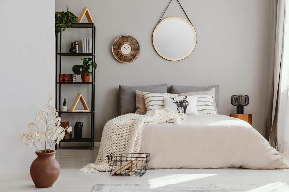 Slaapkamer in bruin tinten