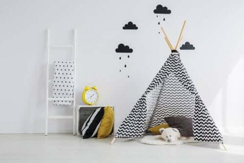Kinderkamer met een tipi