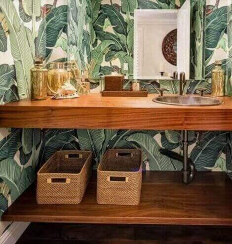 Behang voor een tropisch interieur