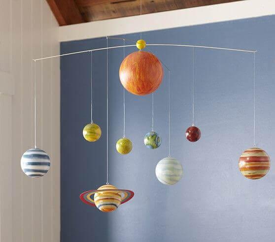 Mobiel met planeten