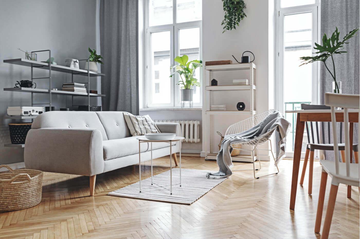 Gepolijste houten vloer